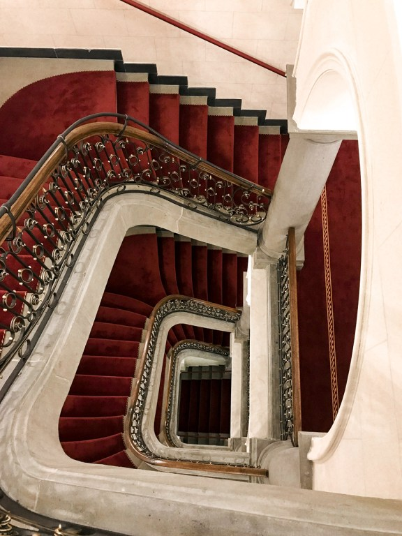 Dusseldorf architecture city guide. best architecture to see in Germany_staircase DERAG LIVINGHOTEL DE MEDICI