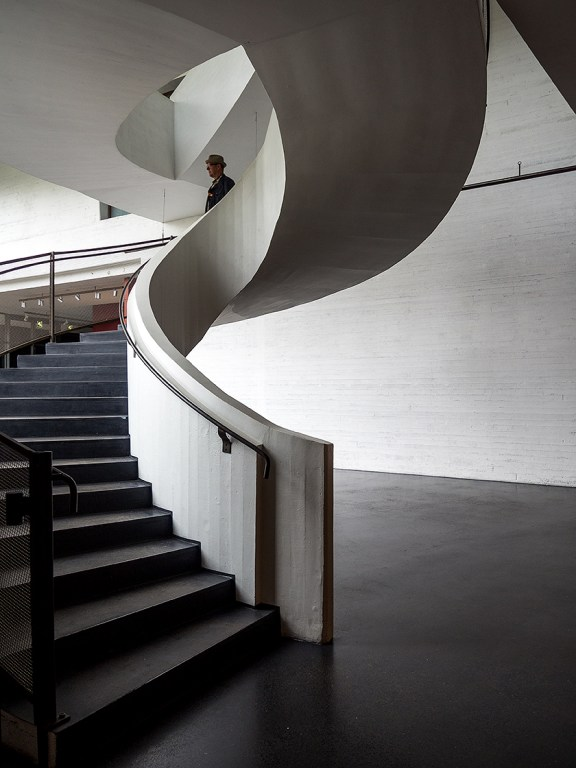 Kiasma contempary art museum in Helsinki Finland designed by the architect Steven Holl