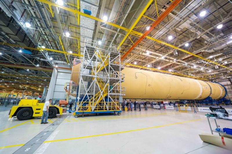 NASA Completes Assembly of 1st SLS Core Stage Structure