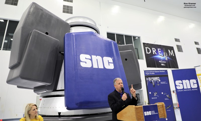 Sierra Nevada Unveils 'Shooting Star' Cargo Module for Dream Chaser Missions to ISS for NASA