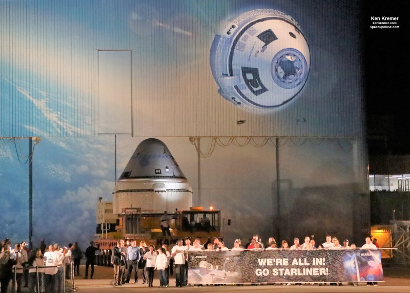 1st Flightworthy Boeing Starliner Crew Capsule Rolls Out to Launch Pad for 1st Uncrewed Test Flight: Photos