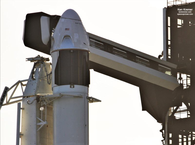 SpaceX Crew Dragon Poised for Liftoff on In-Flight Abort Demonstration Test for NASA: Watch Live/Photos