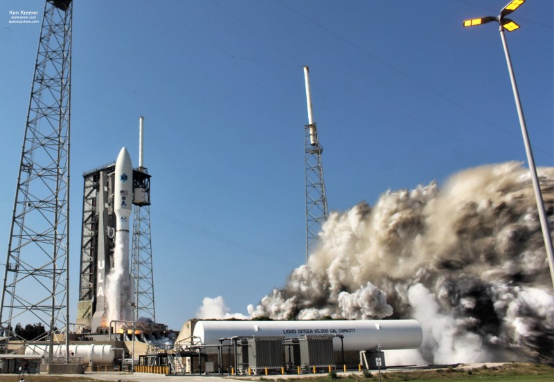 Final Ultrasecure AEHF Miltary Comsat Launches on Atlas V on 1st US Space Force Mission: Photos