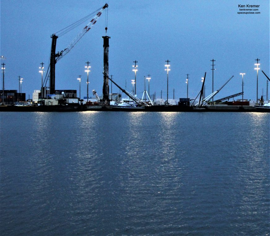 All Legs Retracted on Recycled SpaceX Falcon 9 at Port ...
