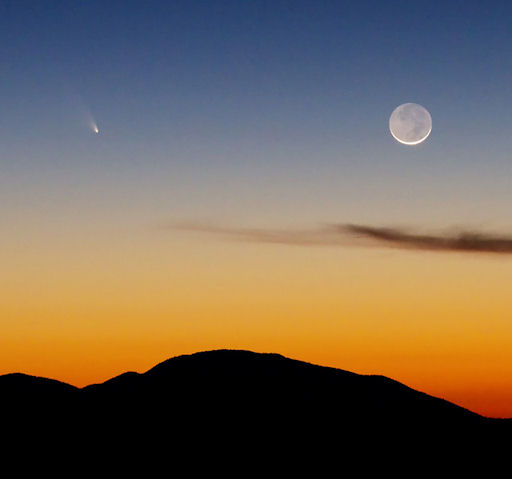 Brian Klimowski's photo of Comet Pan-STARRS, March 12, 2013