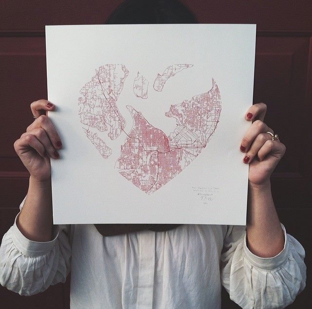Tim + April Norris, Tacoma Heart Map