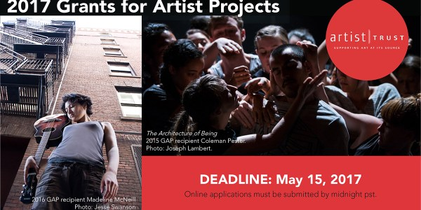 2017 Artist Trust Grants for Artist Projects is open