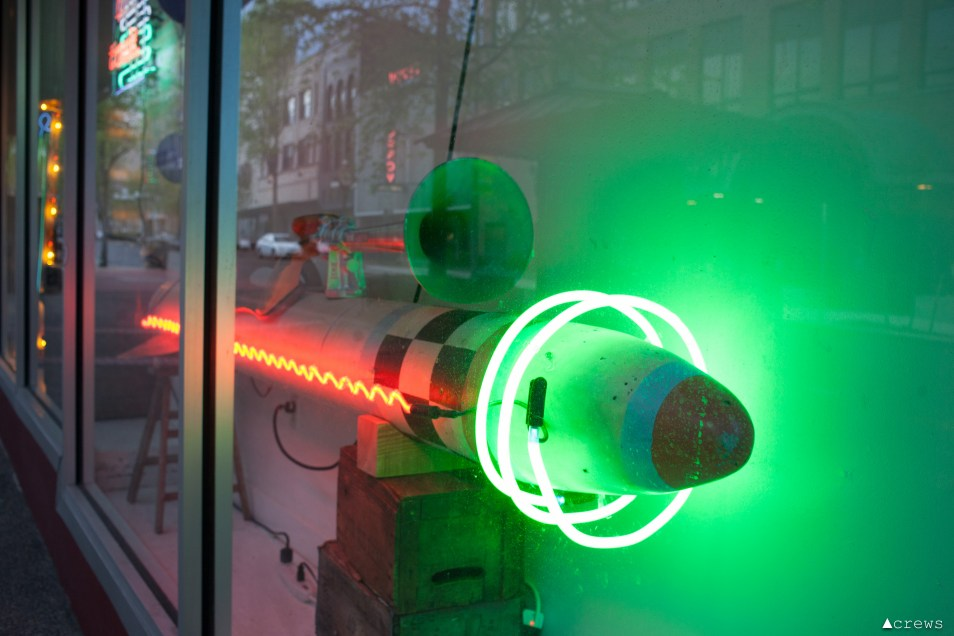 Galen Turner's neon Artscapes installation, spring 2017