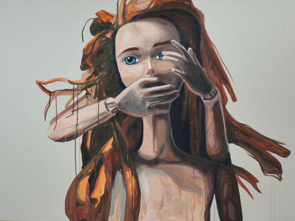 American Beauty painting by Katlyn Hubner