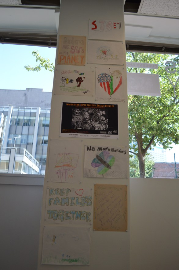 Drawings and Writings by Children Participated in a May 1st Booth Organized by Susan Platt & Raúl Sanchez in Seattle, WA, 2016