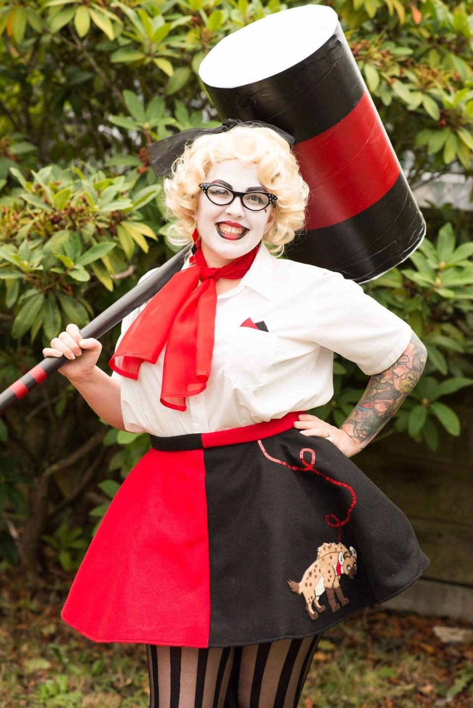 "Erin Severe as retro ""Harley Quinn"". Dorothy Dean Photography"