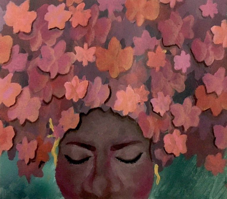 Painting by student artist Chardanae Odegard