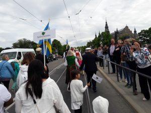 Festtåget på väg mot Skansen