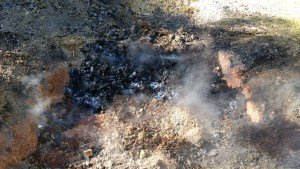 Biochar second pit quenched