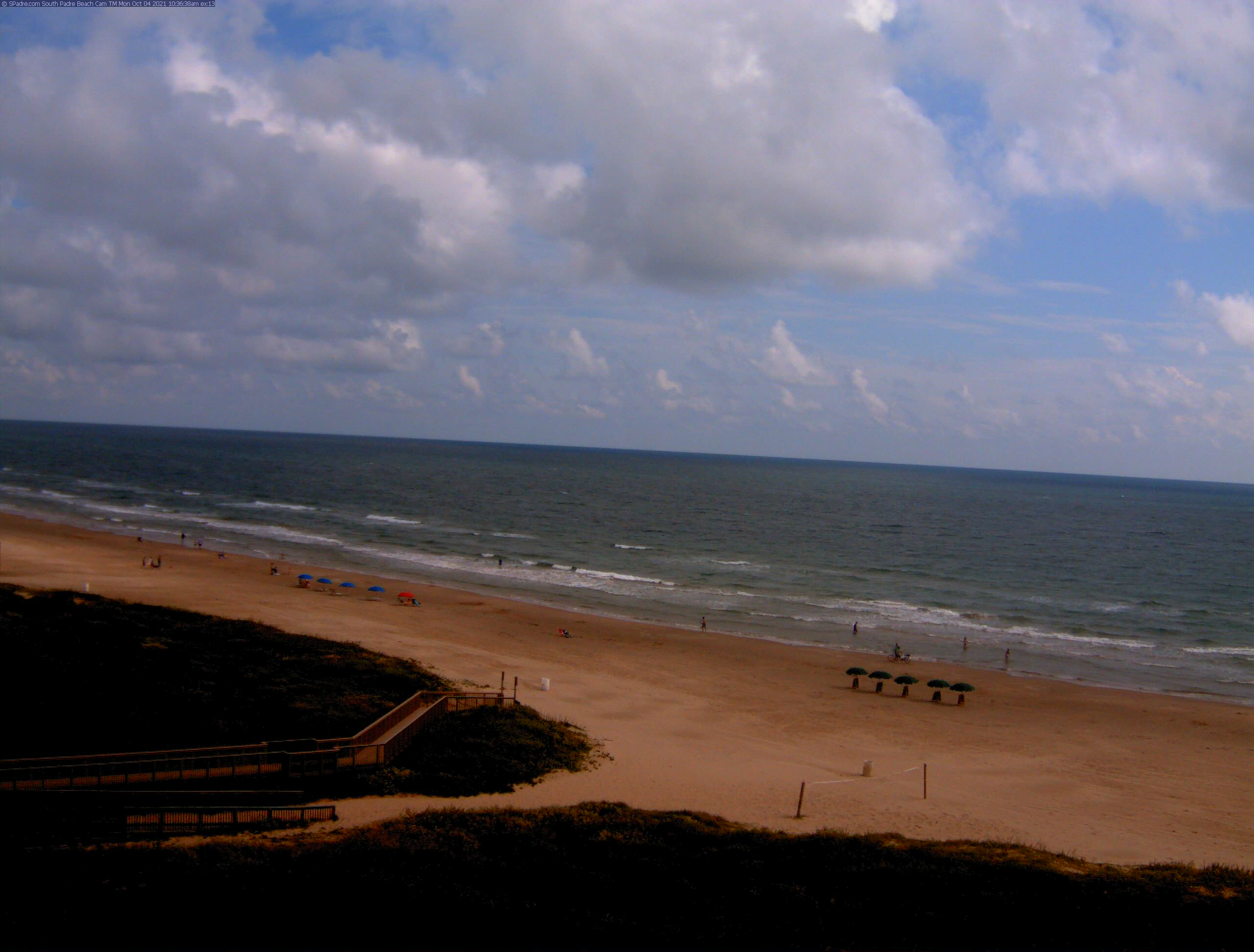 South Padre Beach Cam - Click for new 8x zoom super high resolution mega beach cam - new image every few seconds