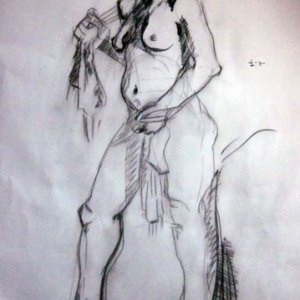Monday night life drawing - 2011 12 12 ten minute sketch