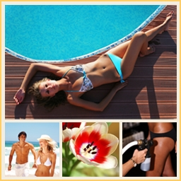 Tanning-collage