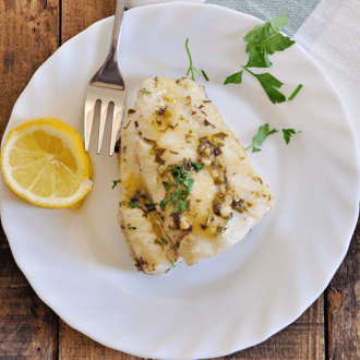 Hake in a White Wine Sauce