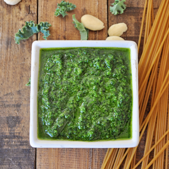 Easy Vegan Pesto Recipe with Kale & Almonds