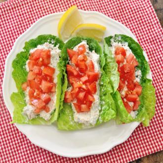 Smoked Salmon Lettuce Wraps