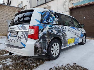 Reklama ant automobilio | Automobilio apipavidalinimas | Spalvota Reklama