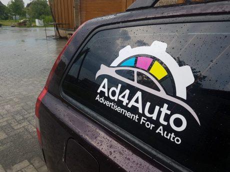 Reklaminiai lipdukai automobiliui - Spalvota Reklama