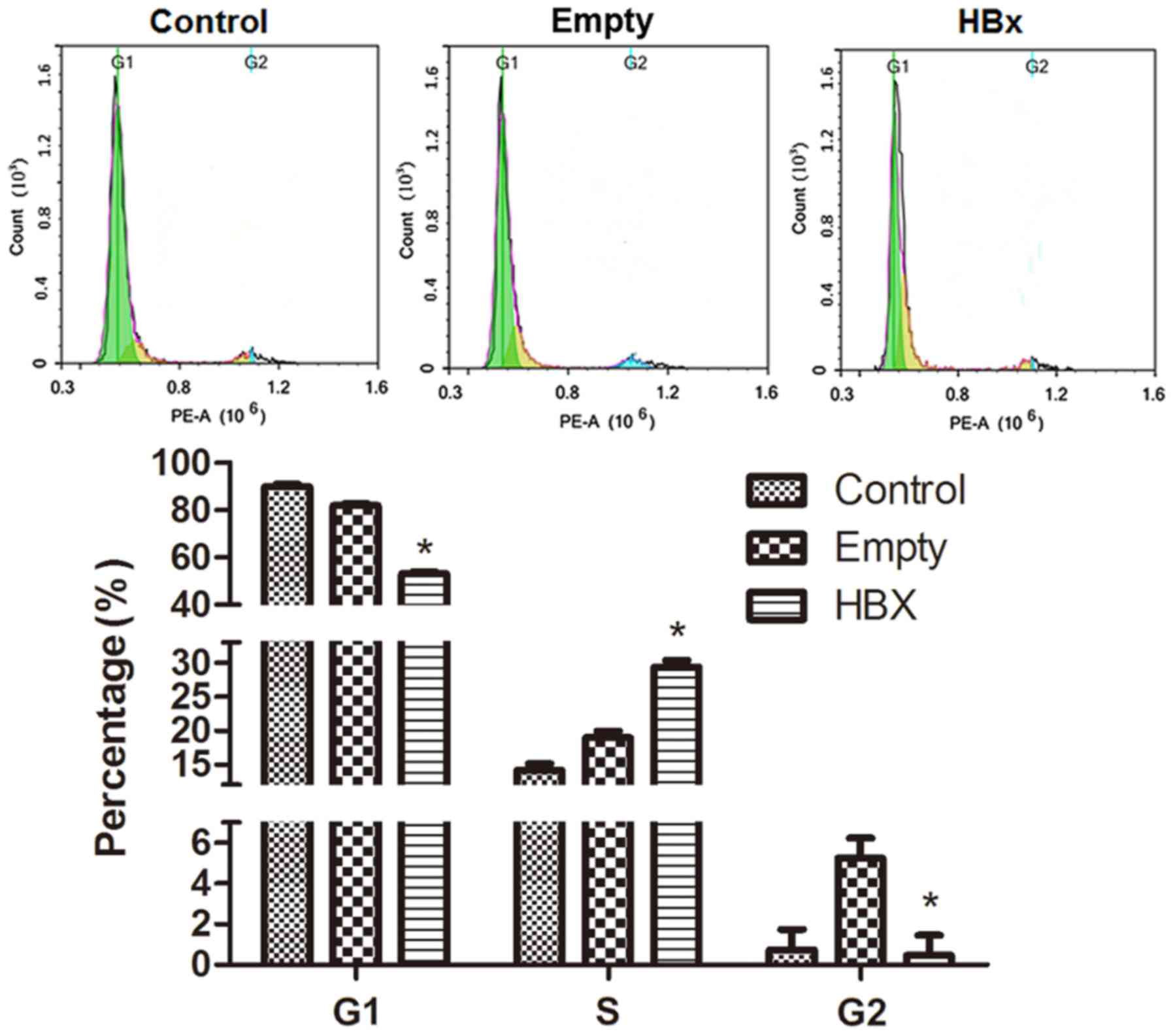 Hbx Gene Transfection Affects The Cycle Of Primary Renal Tubular Epithelial Cells Through