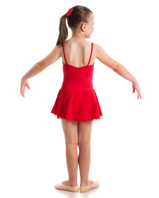 Leotard with Skirt-Red