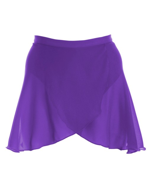 Mock Wrap Skirt-Party Purple