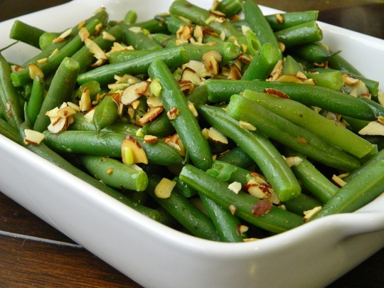 Green Beans with Slivered Almonds