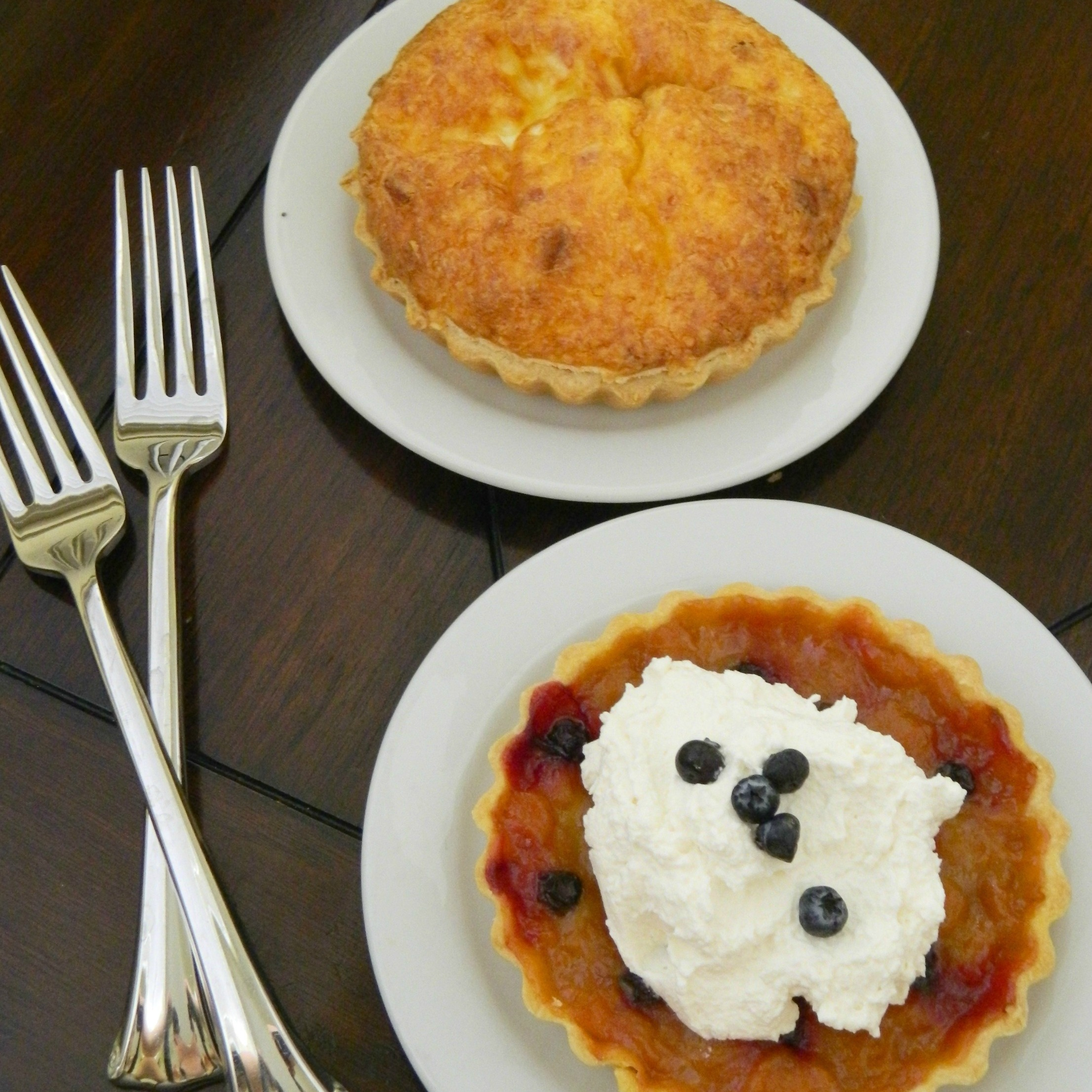 Apricot Tart And A Breakfast Quiche