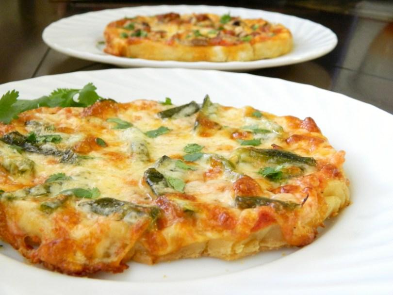 Mexican Pizzas Using Nixtamasa