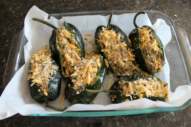 Baked poblano peppers with mushrooms 10