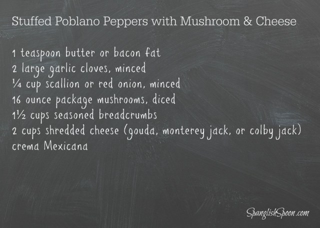 Baked poblano peppers with mushrooms 18