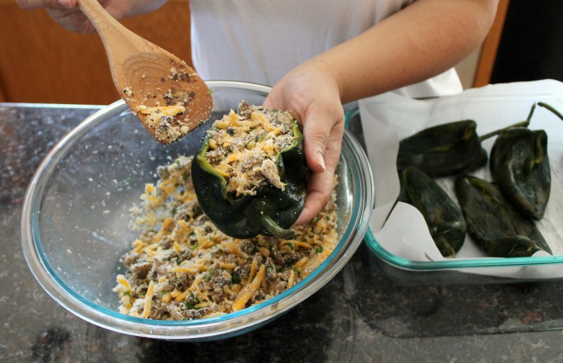 Baked poblano peppers with mushrooms 9