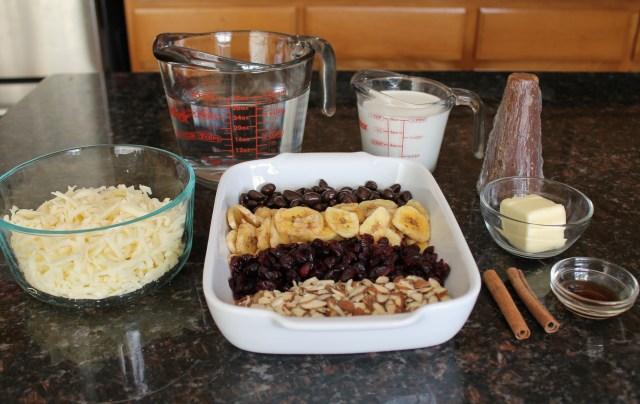 Capirotada with chocolate and dried fruit 2