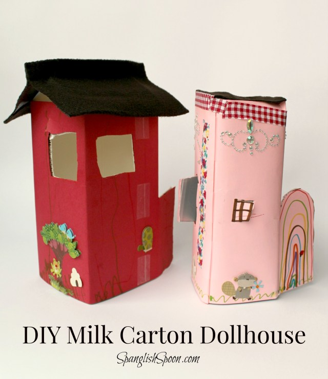 DIY Milk Carton Dollhouse - Spanglish Spoon