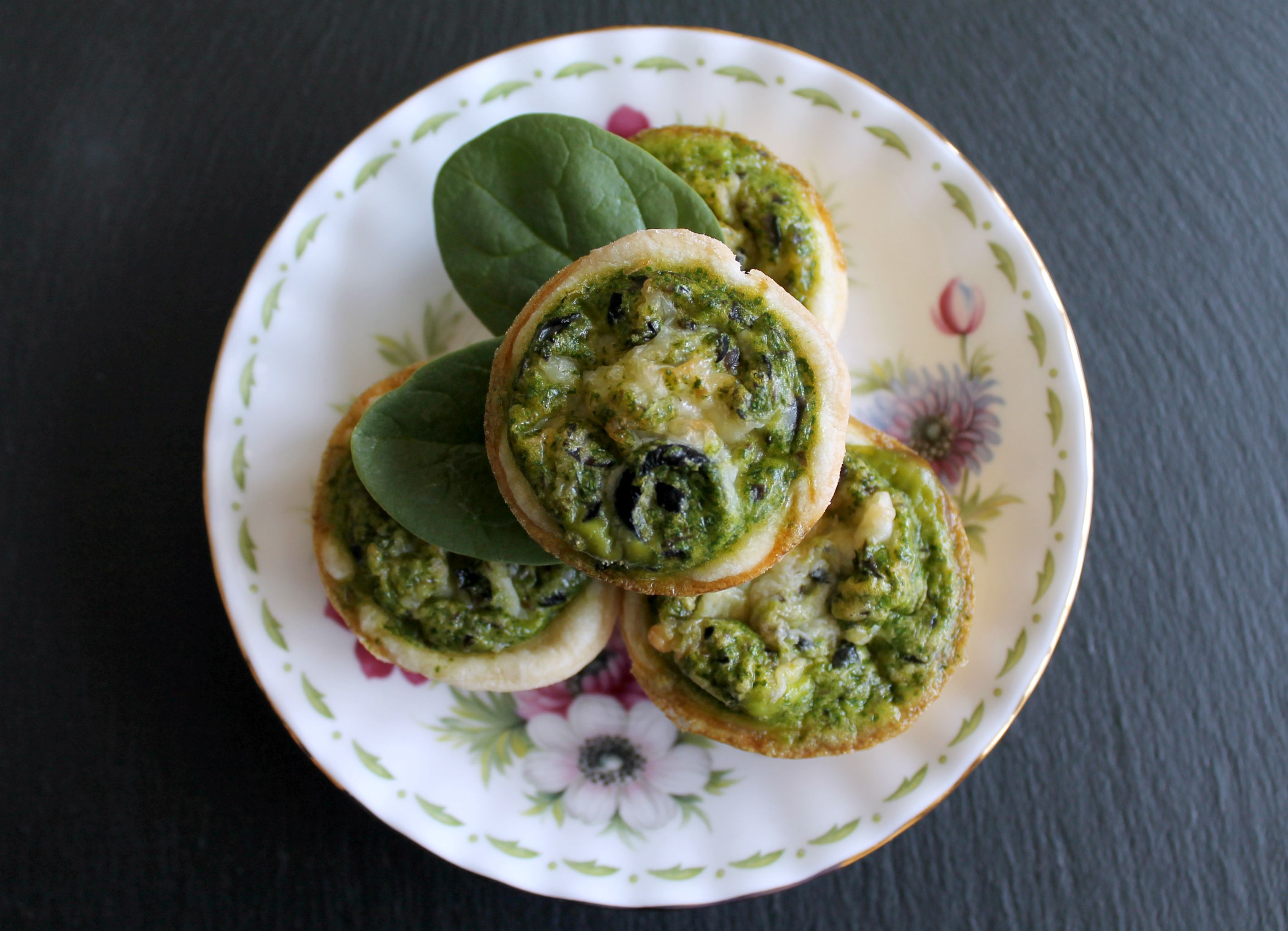 Mini Egg and Spinach Quiches