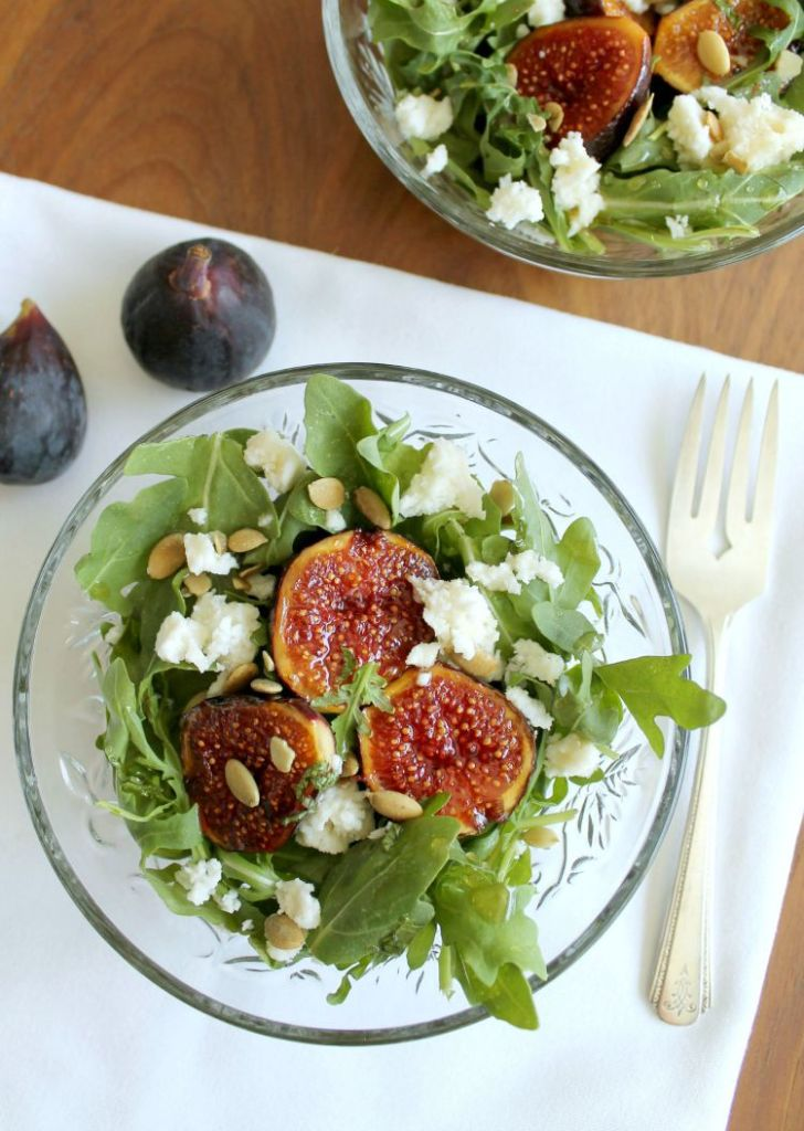 Arugula Salad with Caramelized Fig and Queso Fresco 2