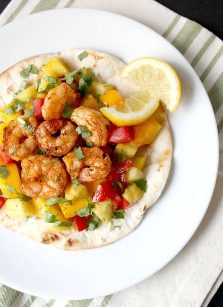 Spicy Grilled Shrimp Tostadas
