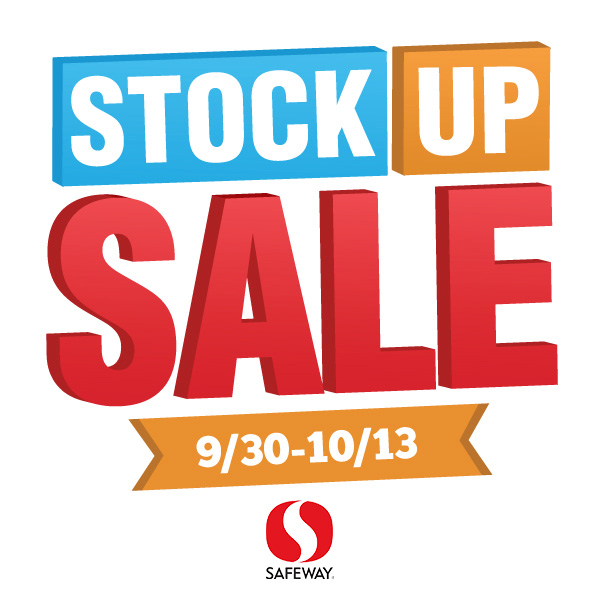 Stock up sale at safeway logo