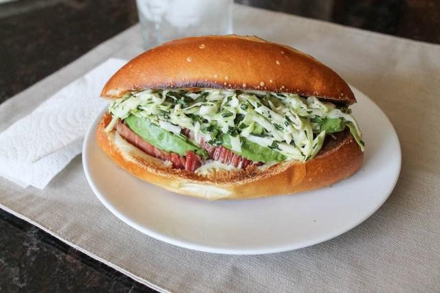 Corned Beef Bolillo Sandwich