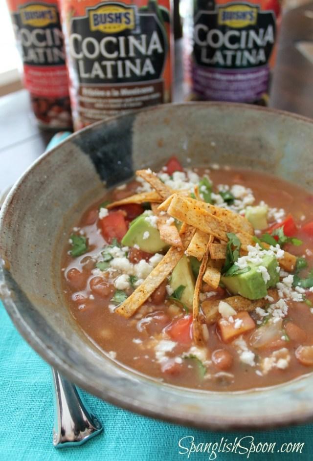 Pinto Bean and Tortilla Soup