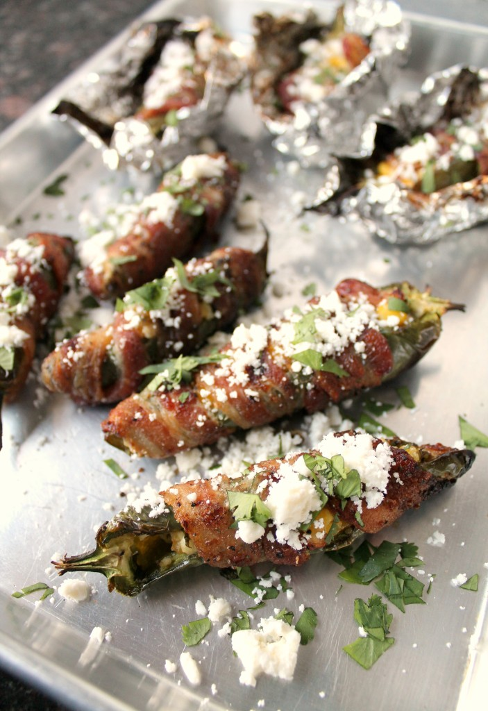 Bacon-wrapped-jalapenos-with-corn-and-feta-cheese-by Spanglish Spoon