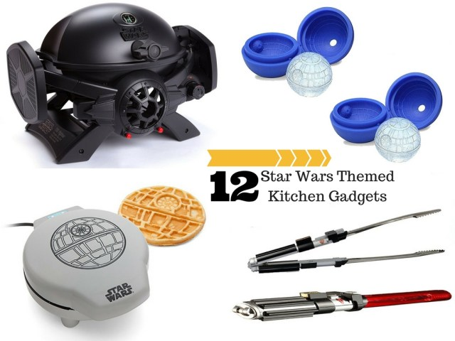 TIE Fighter BBQ Pit, Death Star Ice Molds, Death Star Waffle Maker, Light Saber BBQ Tongs