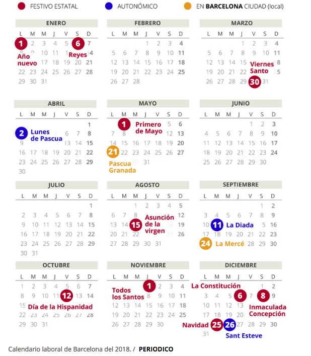 junio en barcelona calendario