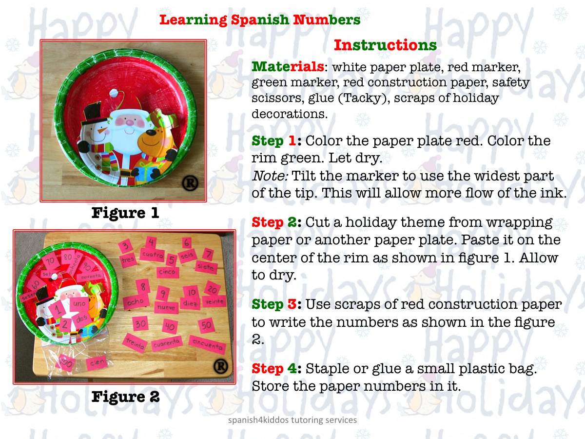 Learning Spanish Numbers Spanish4kiddos Educational