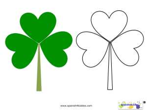 Shamrock pattern for learning vocabulary