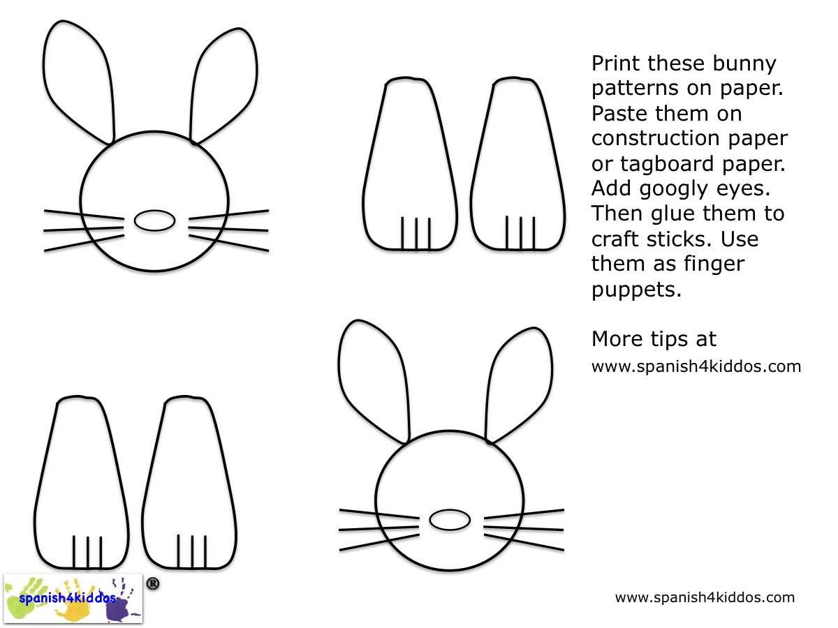 Easter Bunnies Patterns Spanish4kiddos Educational Resources