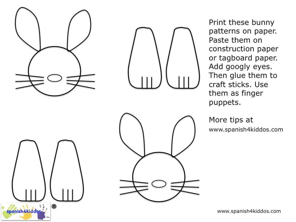 Easter bunnies patterns
